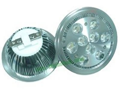 AR1119DY-SPOT LED AR111 PLAFOND 220V 9W BLANC CHAUD ANGLE 15  :: + infos - Devis
