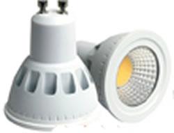 GU10SA3Y :: SPOT LED GU10 COB 3W 220V BLANC CHAUD