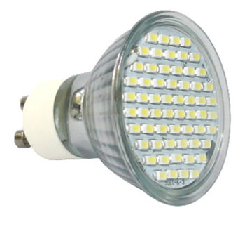 GU10S4PY :: SPOT LED GU10 4W 60SMD BLANC CHAUD
