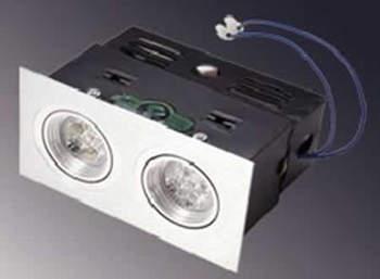 PLDMR16W2C-SPOT LED ENCASTRABLE ORIENTABLE DOUBLE PLAFOND 12V 10W BLANC PUR :: + infos - Devis