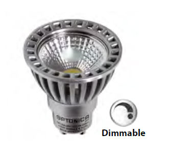SP3L1268 :: SPOT LED 4W GU10 DIMMABLE BLANC CHAUD