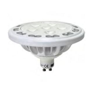 SP3L1525 :: SPOT LED AR111 AVEC CULOT GU10 12W BLANC CHAUD