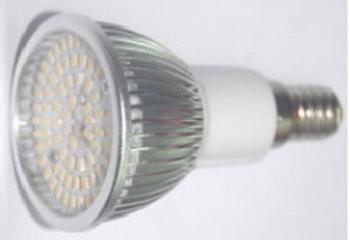 E14S5KY :: SPOT LED E14 5W GRAND ANGLE 80SMD BLANC CHAUD