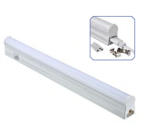 TU3L5523 :: TUBE LED BLANC CHAUD T5 INTEGRE 31 CM AVEC INTERRUPTEUR