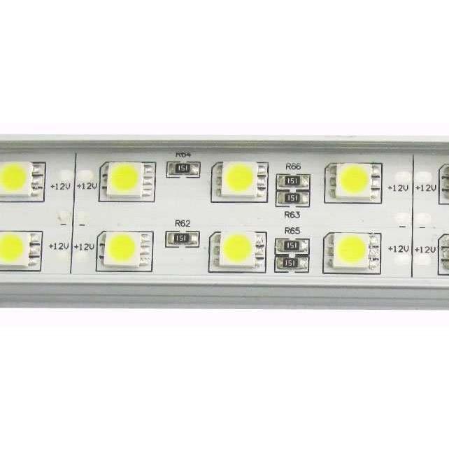 BAR30DW-BARRE LED DOUBLE RANG PUISSANCE 30W UN METRE BLANC PUR :: + infos - Devis