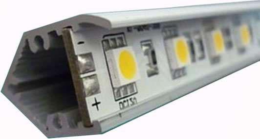 BAR15VY-BARRE LED EN V PUISSANCE 15W UN METRE BLANC CHAUD :: + infos - Devis