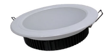 PLD15LY :: PLAFONNIER LED ENCASTRABLE ROND 15W 1050LM BLANC CHAUD DE123