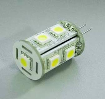 G4C1CY :: AMPOULE G4 LED 9PCS T SMD5050 BLANC CHAUD