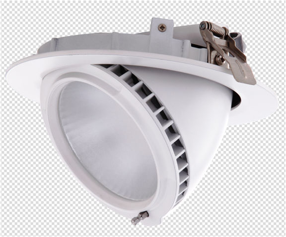 PFCV20100Y :: PLAFONNIERS LED ENCASTRABLE ORIENTABLE DIMMABLE 20W ANGLE 100 DEGRES BLANC CHAUD DE170