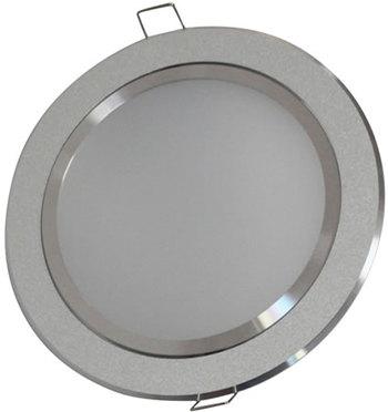PLDDV9DY :: PLAFONNIER LED ORIENTABLE ROND 9W DIMMABLE BLANC CHAUD DE108