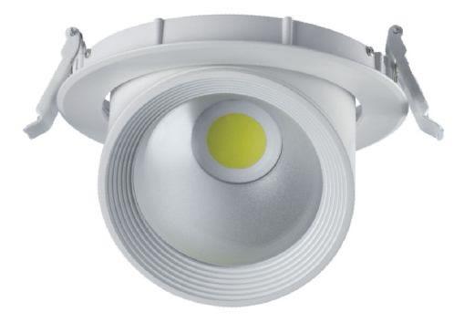 PLFM30Y :: SPOT LED COB ORIENTABLE 30W BLANC CHAUD