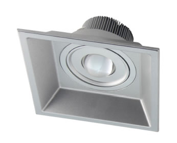 PLDN15Y :: PLAFONNIER LED CARRE 15W DIMMABLE 800 LM BLANC CHAUD DE165
