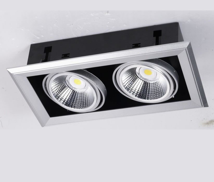 PLFL46Y :: SPOT LED DOUBLE COB SHARP ENCASTRABLE RECTANGLE 46W BLANC CHAUD