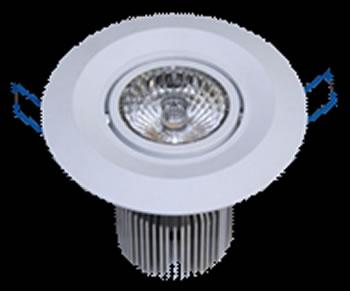 PLD9SY-PLAFONNIER LED ENCASTRABLE  ORIENTABLE 9W 550 LM BLANC CHAUD DE90 :: + infos - Devis