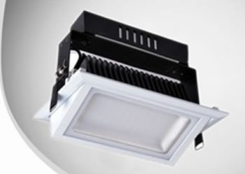 PROJK38Z-PLAFONNIER LED RECTANGLE 38W BLANC NATUREL :: + infos - Devis
