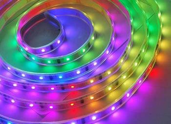 RH5050E32MAGI :: RUBAN FLEXIBLE LED RGB MAGIQUE INT-EXT 5 METRES 32 LED5050 AU METRE