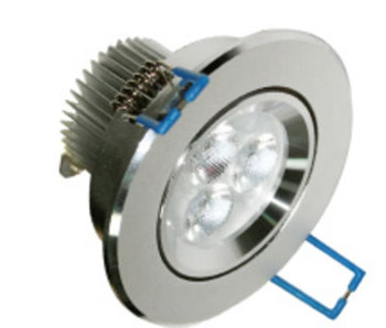 PLD31BY :: SPOT LED ENCASTRABLE ORIENTABLE 4W BLANC CHAUD LED CREE XP DE76