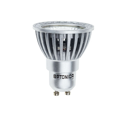 1274 :: SPOT LED GU10 BLANC CHAUD 6W 220V DIMMABLE