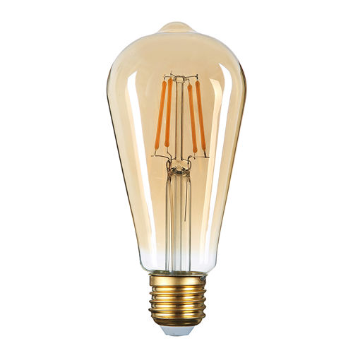 1322-AMPOULE E27 FILAMANT GOLDEN GLASS BLANC CHALEUR 8W DIMMABLE :: + infos - Devis
