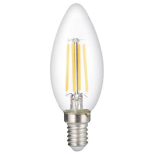 1411 :: AMPOULE LED E14 FLAMME C35  BLANC NATUREL 6W