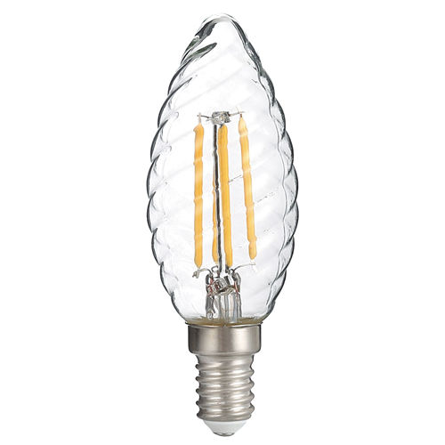 1413-AMPOULE LED E14 FLAMME TORSADéE C35 BLANC CHAUD 4W :: + infos - Devis