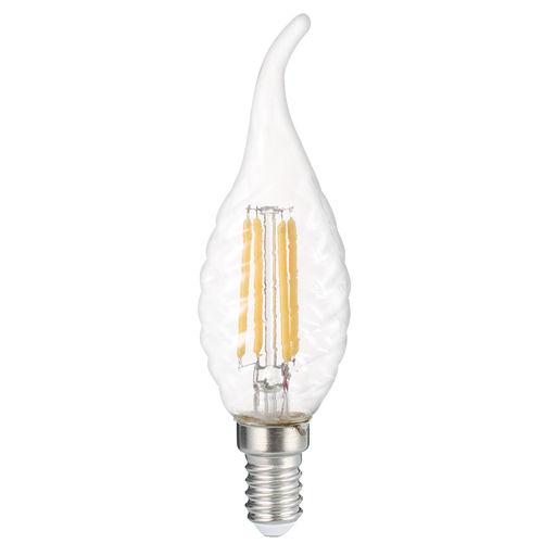 1414-AMPOULE LED E14  FLAMME TORSADEE COUP DE VENT  C35T BLANC CHAUD 4W :: + infos - Devis