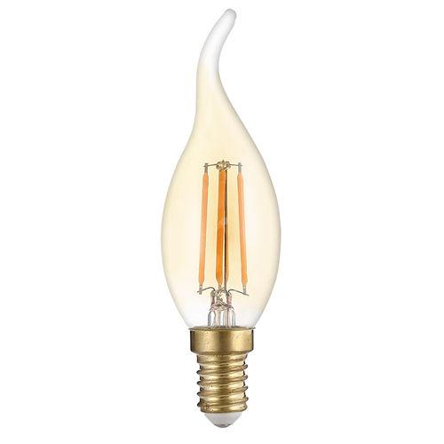 1416 :: AMPOULE LED E14  FLAMME TORSADEE COUP DE VENT  C35T BLANC CHAUD 4W DIMMABLE