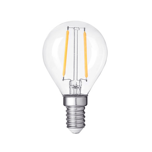 1417 :: AMPOULE LED E14  RONDE BLANC CHAUD 4W DIMMABLE