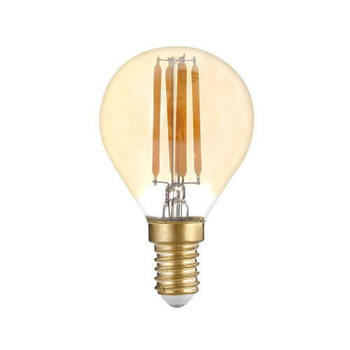 1418 :: AMPOULE LED E14  RONDE BLANC CHAUD 4W DIMMABLE