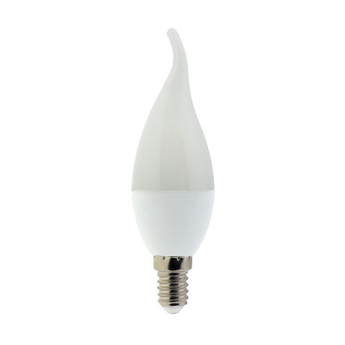 1466 :: AMPOULE LED E14 FLAMME COUP DE VENT  BLANC PUR 6W