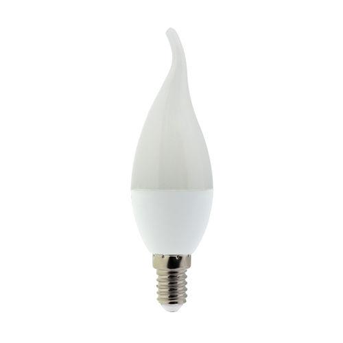 1468 :: AMPOULE LED E14 FLAMME COUP DE VENT  BLANC CHAUD 6W