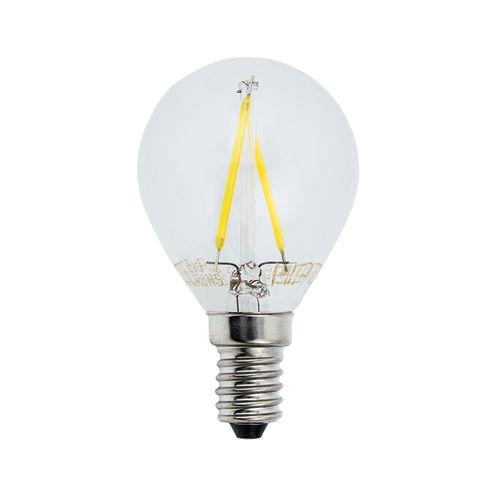 1476-AMPOULE LED E14  RONDE BLANC CHAUD 2W :: + infos - Devis