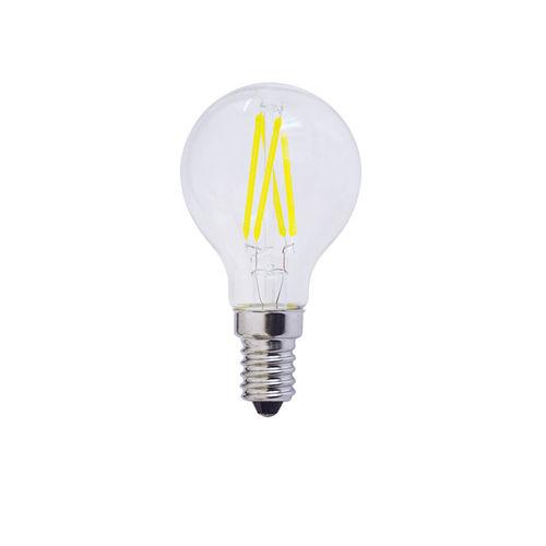1477 :: AMPOULE LED E14  RONDE BLANC PUR 4W
