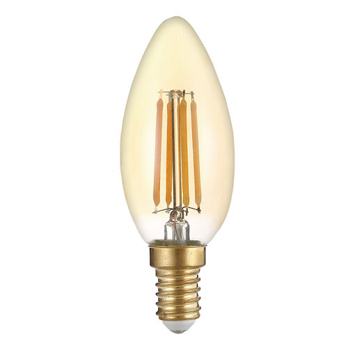 1490-AMPOULE LED E14 FLAMME BOUGIE C35 GOLDEN GLASS BLANC CHALEUR 4W :: + infos - Devis