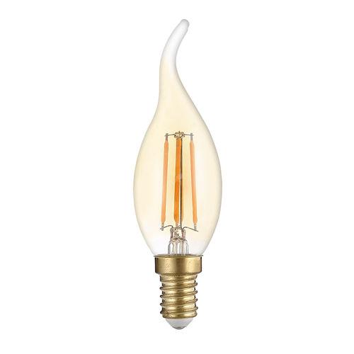1491-AMPOULE LED E14 BOUGIE T35 GOLDEN GLASS BLANC CHALEUR 4W :: + infos - Devis