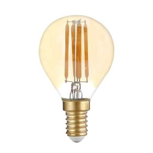 1492 :: AMPOULE LED E14 G45 GOLDEN GLASS BLANC CHALEUR 4W