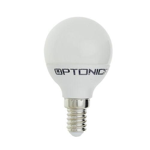 1495-AMPOULE LED E14  RONDE BLANC CHAUD 8,5W  :: + infos - Devis