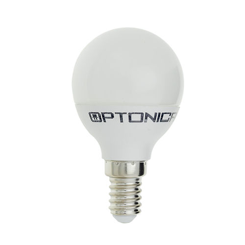 1498 :: AMPOULE LED E14  RONDE BLANC CHAUD 6W DIMMABLE
