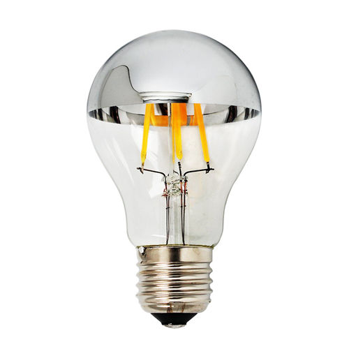 1879-AMPOULE E27 DEMI SILVER GLASS BLANC CHAUD 4W :: + infos - Devis