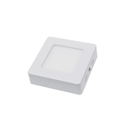 2237 :: PLAFONNIER LED SURFACE CARRE 6W BLANC PUR
