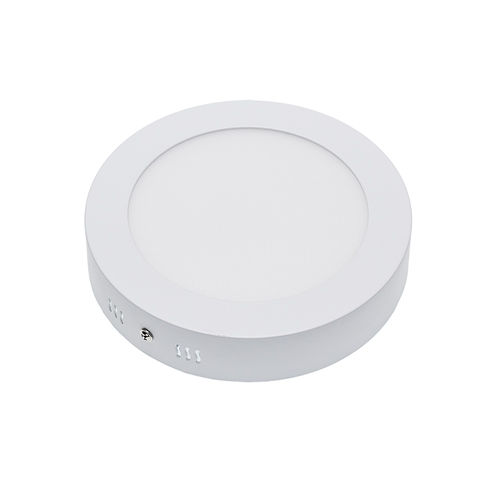2246 :: PLAFONNIER LED SURFACE ROND 12W BLANC CHAUD
