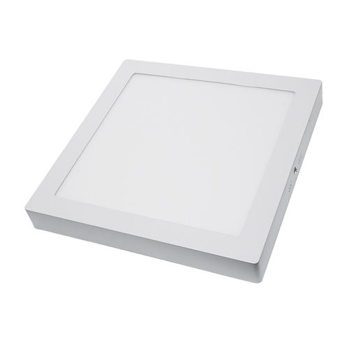 2258 :: PLAFONNIER LED SURFACE CARRE 24W BLANC CHAUD