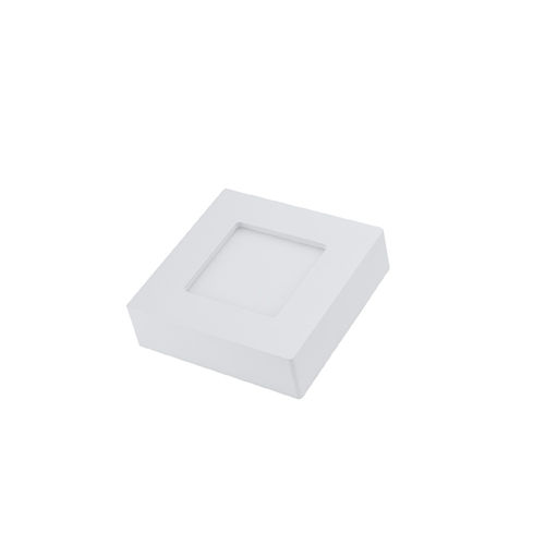 2539 :: PLAFONNIER LED SURFACE CARRE 6W CCT BLANC CHAUD AU BLANC PUR
