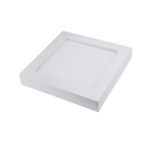 [2542]  [1000] - PLAFONNIER LED SURFACE CARRE 24W CCT BLANC CHAUD AU BLANC PUR