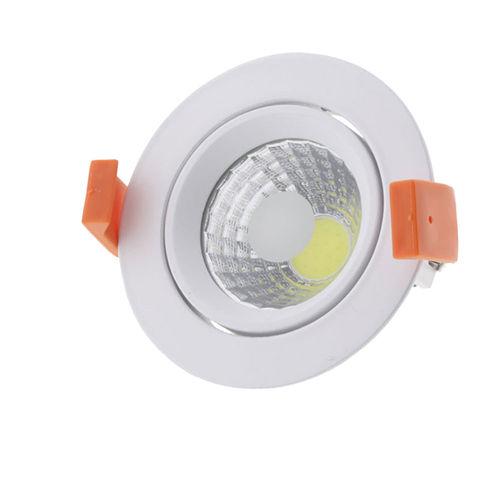 3206-PLAFONNIER LED COB ENCASTRABLE ORIENTABLE 8W BLANC CHAUD :: + infos - Devis