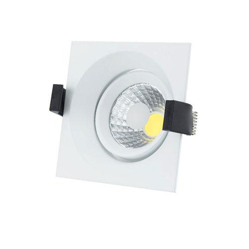 3207 :: PLAFONNIER LED COB ENCASTRABLE ORIENTABLE 8W BLANC PUR