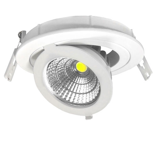 3253-PLAFONNIER LED COB ENCASTRABLE AJUSTABLE 12W BLANC CHAUD :: + infos - Devis