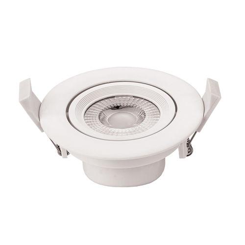 3266-PLAFONNIER LED COB ENCASTRABLE ORIENTABLE 5W BLANC CHAUD :: + infos - Devis