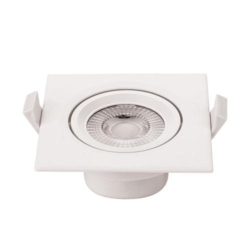 3269-PLAFONNIER LED COB ENCASTRABLE ORIENTABLE 5W BLANC CHAUD :: + infos - Devis