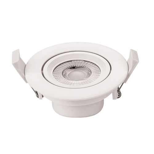 3285 :: PLAFONNIER LED COB ENCASTRABLE ORIENTABLE 7W BLANC NATUREL